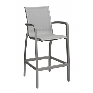 Sunset Barstool Solid Gray/Platinum Gray