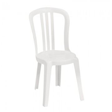 Miami Bistro Sidechair White