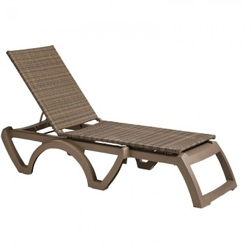 Java All-Weather Wicker Chaise Taupe