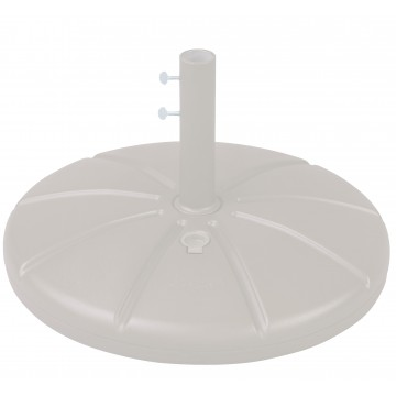 Resin Umbrella Base with Filling Cap White