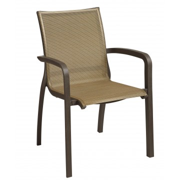 Sunset Stacking Armchair Cognac/Fusion Bronze
