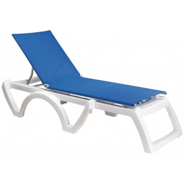 Calypso Adjustable Sling Chaise Blue