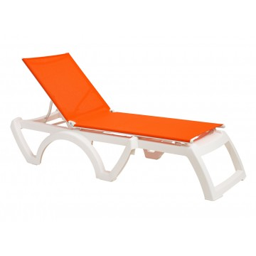 Calypso Adjustable Sling Chaise Orange