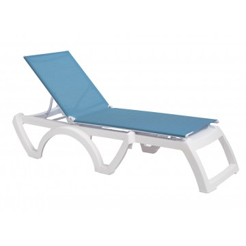 Calypso Adjustable Sling Chaise Sky Blue