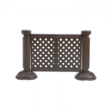 Fence Post & Interlocking Base Brown