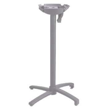 X1 Bar Height Tilt Top Base Small Silver Gray