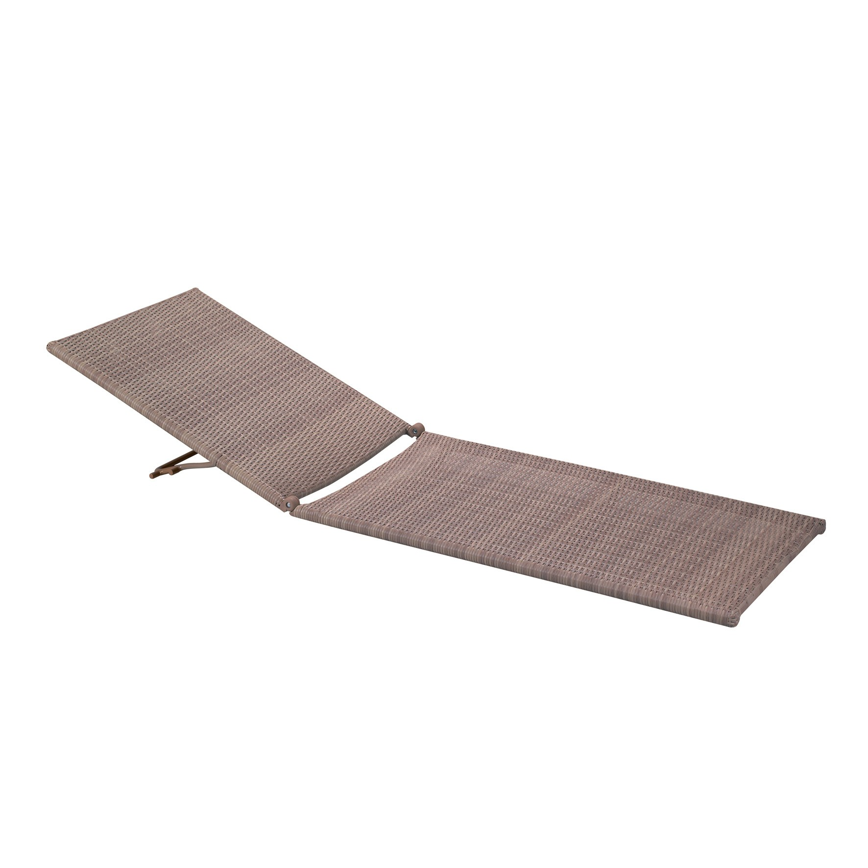 Java All Weather Wicker Chaise Replacement Frame Taupe