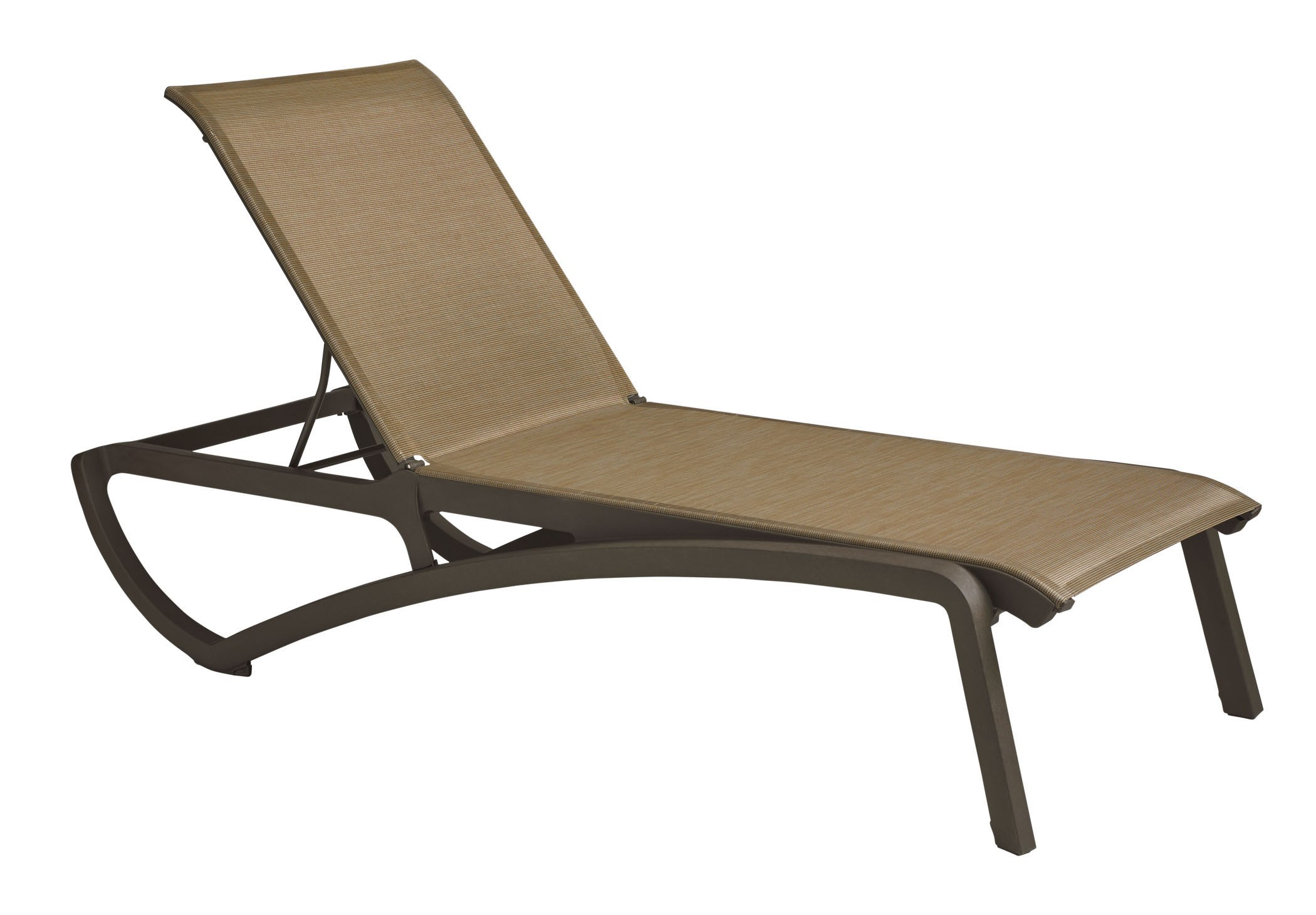 Sunset chaise lounge cognac fusion bronze for Bronze chaise lounge