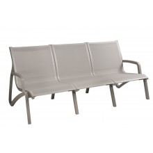 Sunset Sofa Solid Gray/Platinum Gray