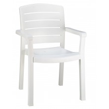 Acadia Classic Dining Armchair White