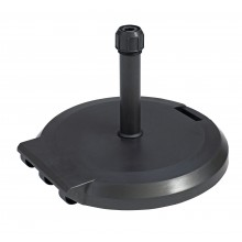 84lb Freestanding Umbrella Base with Wheels Charcoal