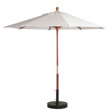 "9ft Market Umbrella w/ 1 1/2"" Pole White"