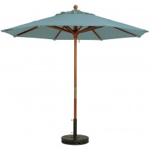 "9ft Market Umbrella w/ 1 1/2"" Pole Spa Blue"