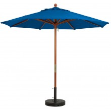 "9ft Market Umbrella w/ 1 1/2"" Pole Pacific Blue"