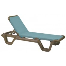 Marina Adjustable Sling Chaise Lounge Spa Blue/Bronze