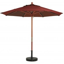"9ft Market Umbrella w/ 1 1/2"" Pole Burgundy"