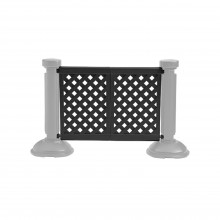 2-Panel Section of Portable Fencing Black