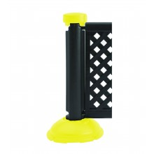 Fence Post & Interlocking Base Black - Safety Yellow