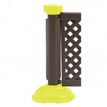 Fence Post & Interlocking Base Brown - Safety Yellow
