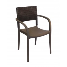 Java Wicker Armchair Bronze
