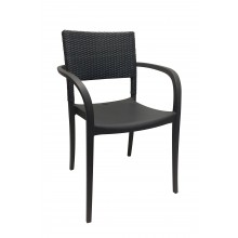 Java Wicker Armchair Charcoal