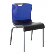 Krystal Sidechair Blue/Charcoal