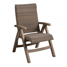 Java All-Weather Wicker Folding Chair Taupe
