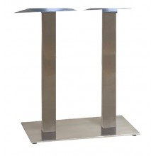 "Gamma Base Bar Height Lateral 16""x28"" Silver Gray"