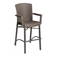 Havana Barstool with Arms Bronze