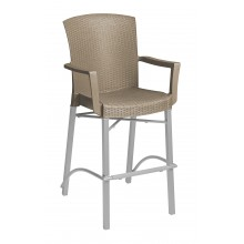 Havana Barstool with Arms Taupe