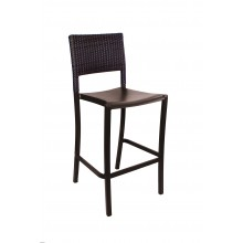 Java Wicker Barstool Bronze