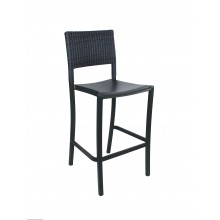 Java Wicker Barstool Charcoal