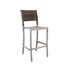 Java Wicker Barstool French Taupe
