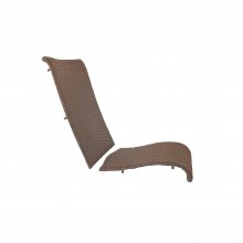 JAVA All-Weather Wicker Folding Chair Replacement Frame Mochaccino