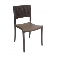 Java Wicker Sidechair Bronze