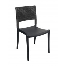 Java Wicker Sidechair Charcoal