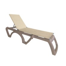 Jamaica Beach Adjustable Sling Chaise Straw/French Taupe