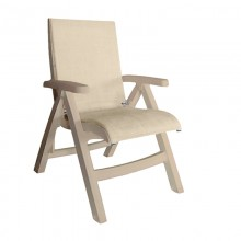 Jamaica Beach Midback Folding Sling Chair Straw/Sandstone
