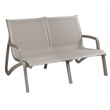 Sunset Love Seat Solid Gray/Platinum Gray