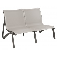 Sunset Love Seat Solid Gray/Volcanic Black