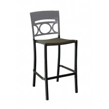 Moon Armless Barstool Titanium Gray/ Charcoal