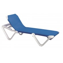 Nautical Adjustable Sling Chaise Blue/White