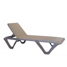 Nautical Pro Adjustable Sling Chaise Ash/Dove Gray