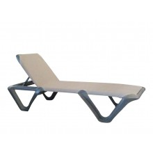 Nautical Pro Adjustable Chaise Espresso/Charcoal