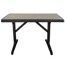 "Omega 45""x28"" Table Metal Brushed Decor with Charcoal Legs"