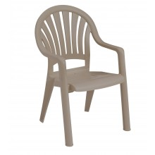 Pacific Fanback Armchair French Taupe