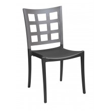 Plazza Sidechair Titanium Gray/Charcoal