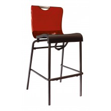 Krystal Barstool Red/Charcoal
