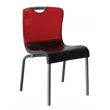Krystal Sidechair Red/Charcoal