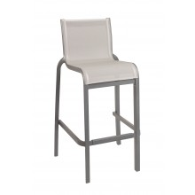 Sunset Armless Barstool Solid Gray/Platinum Gray